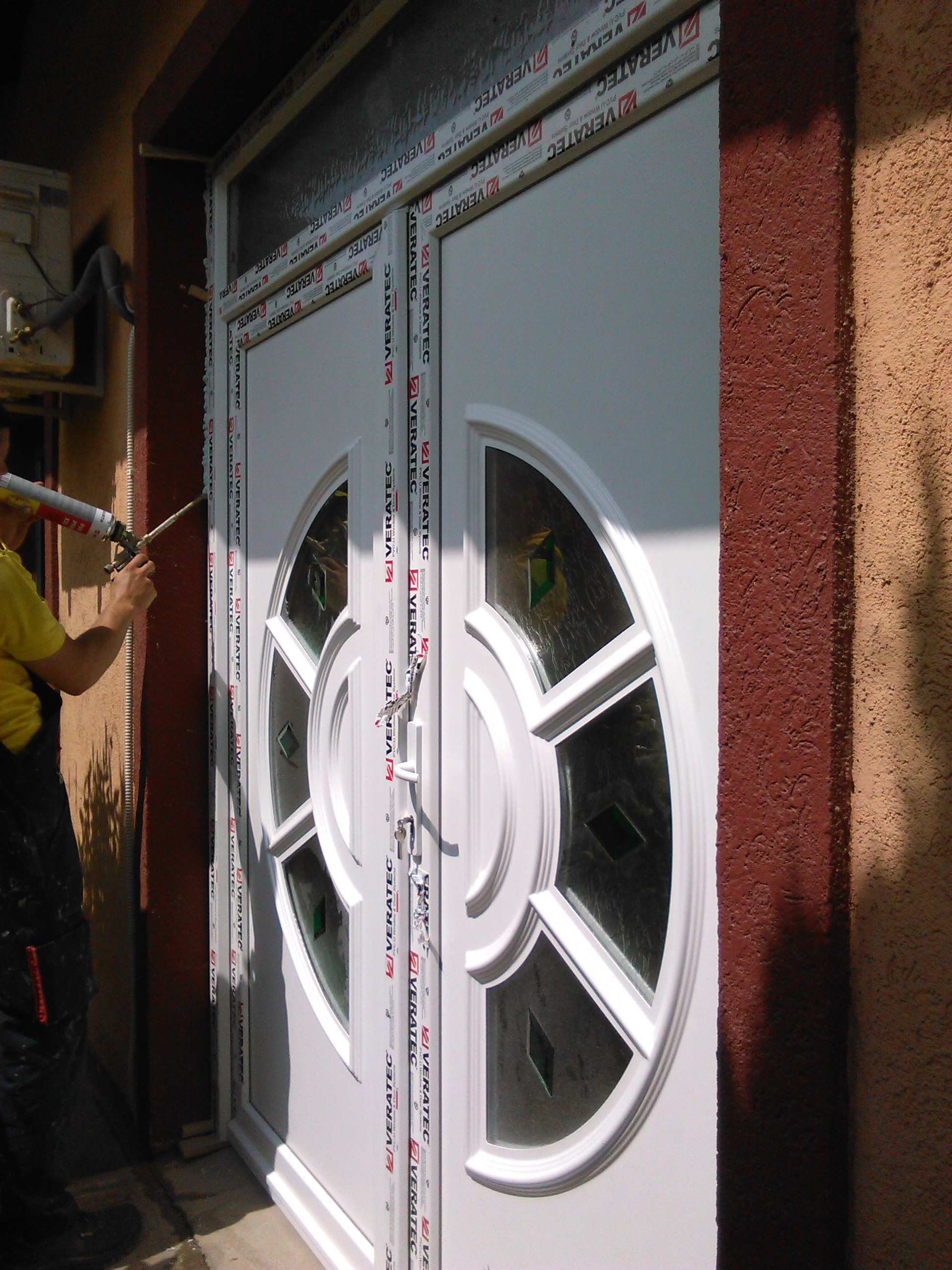 pvc dvokrilna vrata ukrasni panel